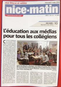 Article Education aux médias
